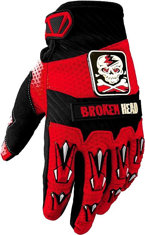 Broken Head Mx Handschuhe Faustschlag Motorrad Handschuhe Für Motocross Enduro Mountainbike Rot Größe M Auto