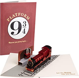 Harry Potter Hogwarts Express Platform 9 3/4 Pop-Up Card - Deluxe Handcrafted Pop Up Card - All Occasions, Inspirational - 5 x 7