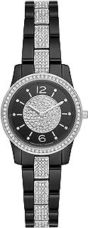 Women Runway Quartz Stainless Steel Black with Black Dial Watch MK6620