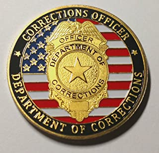 Corrections Officer Department of Corrections Colorized Challenge Art Coin
