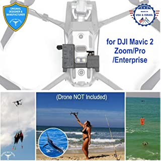 Professional Release and Drop Device for DJI Mavic 2 Zoom/Pro/Enterprise, for Drone Fishing, Bait Release, Payload Delivery, Search & Rescue, Fun Activities. - Free Drop Parachute Included -