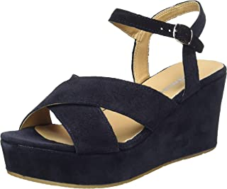 TAMARIS Ladies 28347 Wedge Sandals In Navy