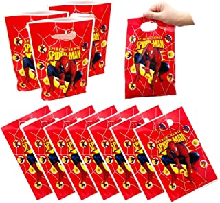50 Packs Spiderman Party Gift Bags, Birthday Decoration Gift Bags Spiderman Gift Bags Party Supplies for Kids Spiderman Th...