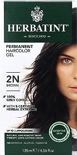 Herbatint Permanent Herbal Haircolor Gel 2N Brown 4.56 fl oz 135 ml
