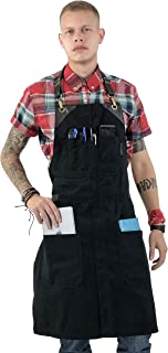 quanjucheer Barista Moda Coreana Pittura Grembiule Di Jeans Bar Ristorante Tuta In Pelle Personaggi Ricamati Grembiule Da Cuoco Con Tasche Blu