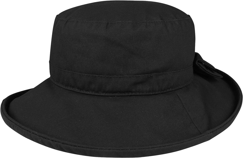 Juniper Women's Waxed Cotton Canvas Wide Brim Bucket Hat