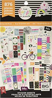 me & my BIG ideas Sticker Value Pack - The Happy Planner Scrapbooking Supplies - All in A Season Theme - Multi-Color & Gol...