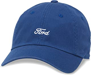 American Needle Micro Slouch Casual Baseball Dad Hat Ford Mustang, Bay Blue (FORD-1706A)