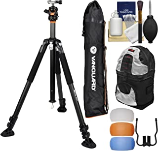 Vanguard ABEO Plus 323AB 75-inch Aluminum Alloy Tripod with BBH-200 Ball Head & Case + Backpack + Flash Diffusers + Kit