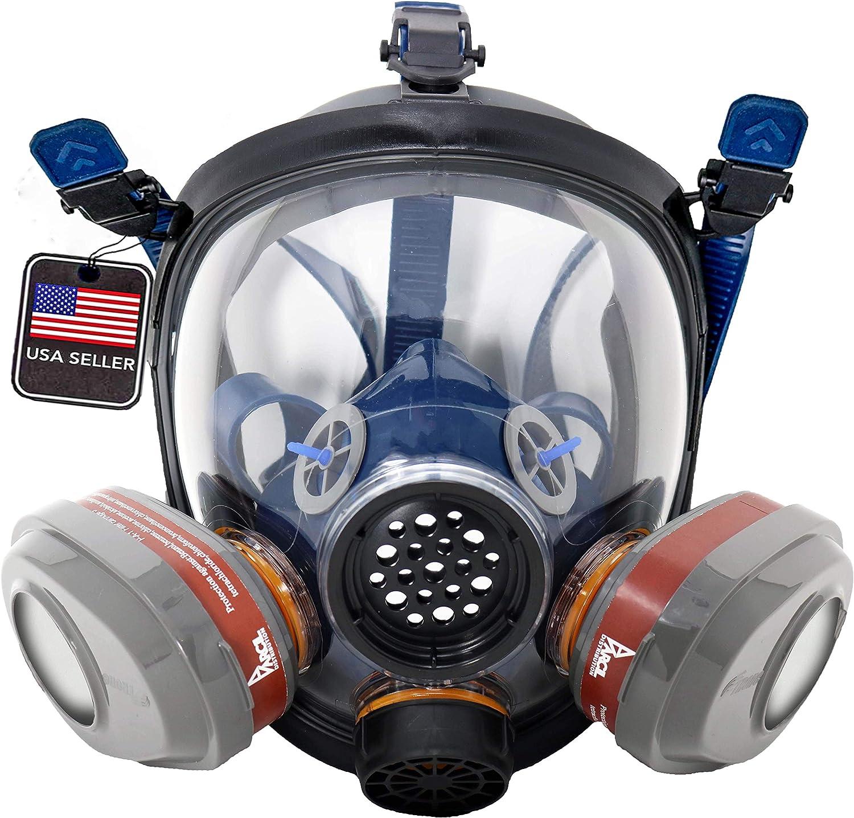 Dedication PT-101 Full Face Organic Vapor Respirator Particulate Max 85% OFF Dua with