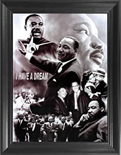 Dr. Martin Luther King Jr. I Have A Dream 3D Poster Wall Art Decor Framed Print | 14.5x18.5 | Lenticular Posters & Pictures | Memorabilia Gifts for Guys & Girls Bedroom | MLK Civil Rights Leader Art