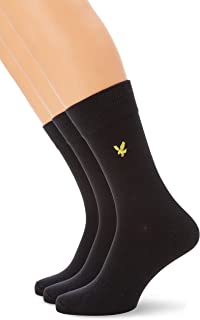 Lyle & Scott, 3 Pack Socks In Calcetines, Negro (True Black), Talla única para Hombre