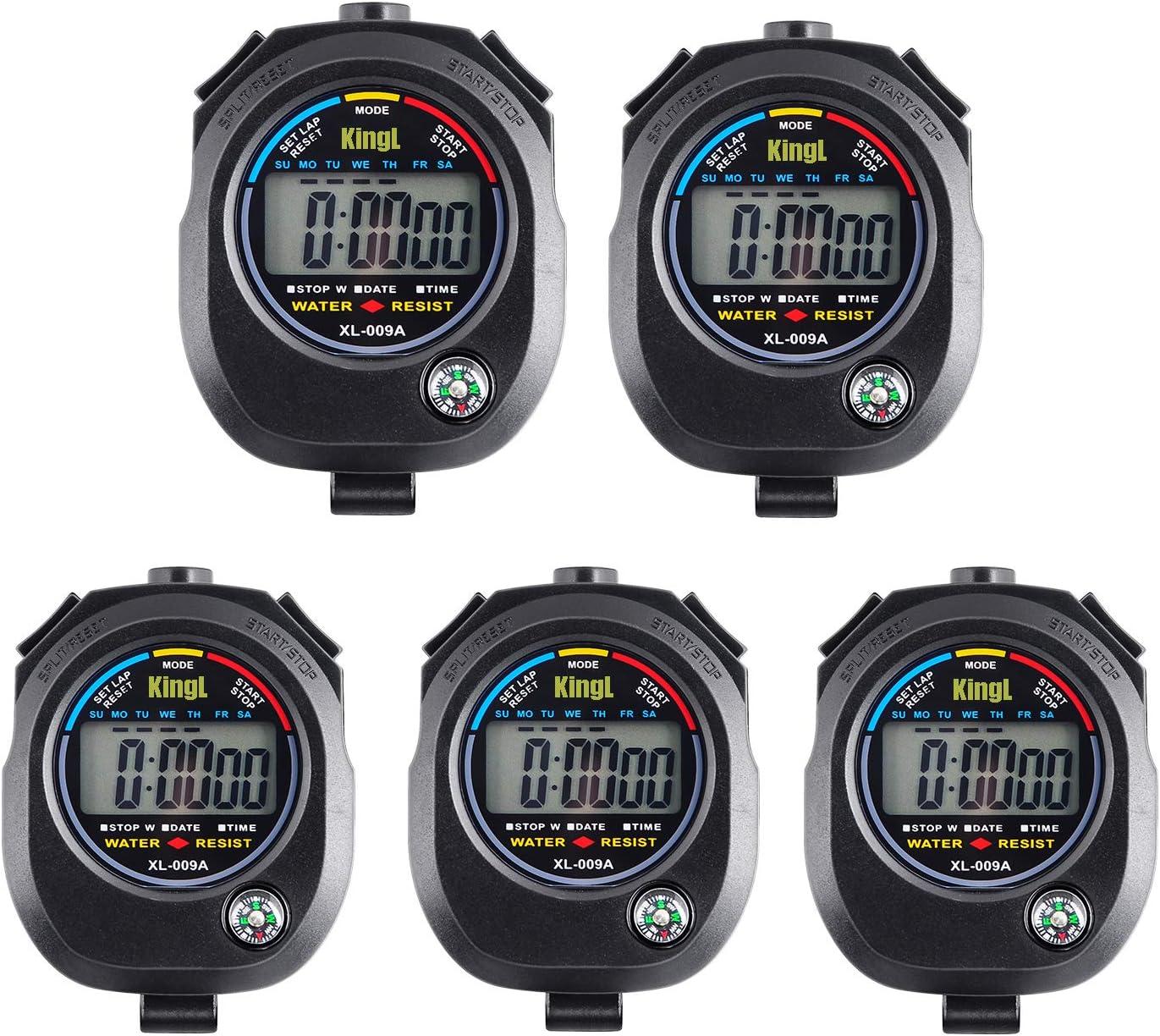 KingL Digital Stopwatch Timer - Interval Timer with Large Displa