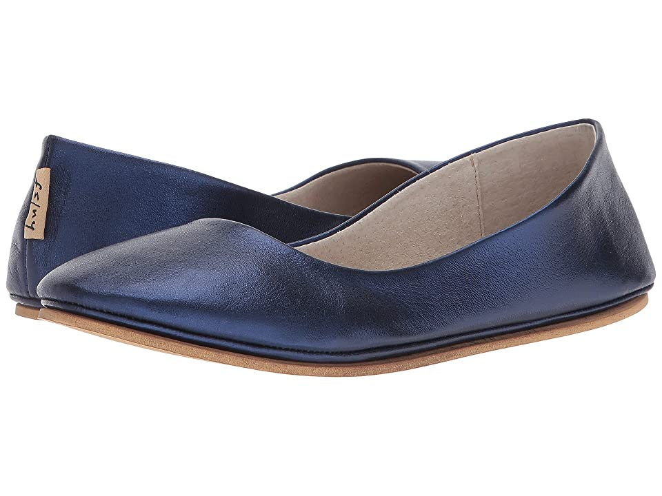French Sole Sloop Flat (Navy Silk Nappa) Women