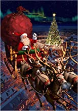 DIY 5D Diamond Painting Kit Full Drill Tree Snowman Santa Pattern Diamond Painting Embroidery Cross Arts Craft Gift for Ad...