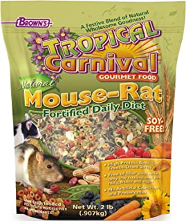 F.M. Brown'S Tropical Carnival Natural Pet Mouse And Rat Food, 2-Lb Bag - Vitamin-Nutrient Fortified Daily Diet, Soy-Free ...