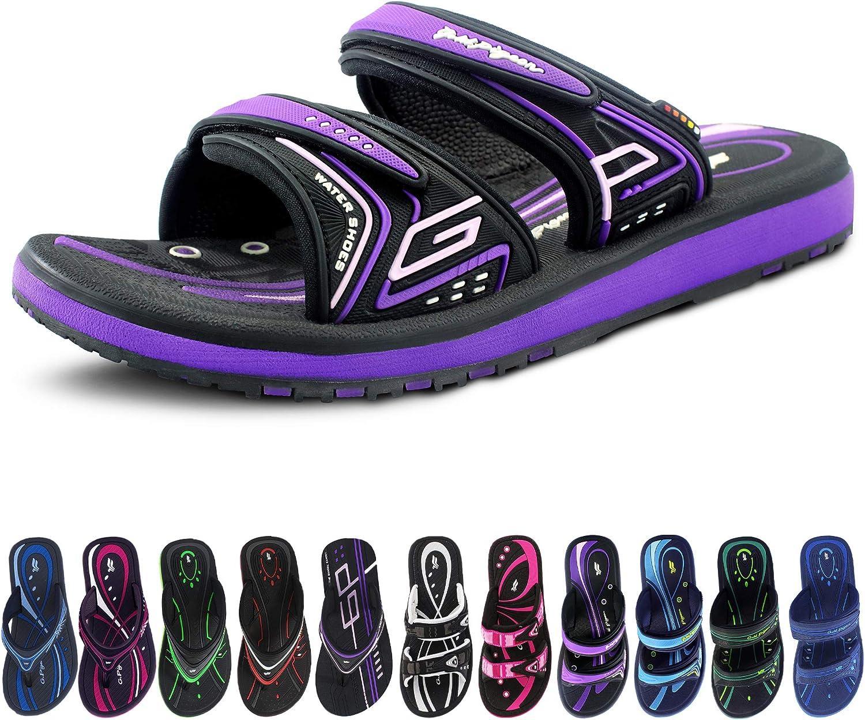 Classic Unisex Slides, Flip-flops & Easy SNAP LOCK Sandals