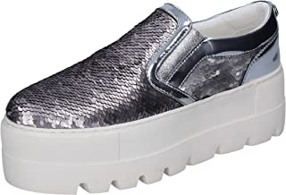 CULT Loafer Flats Womens Silver