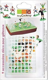 SCRAP COOKING- Décoration Football pour Gâteau, Pâtisserie, Dessert, Anniversaire, Enfant, 5013