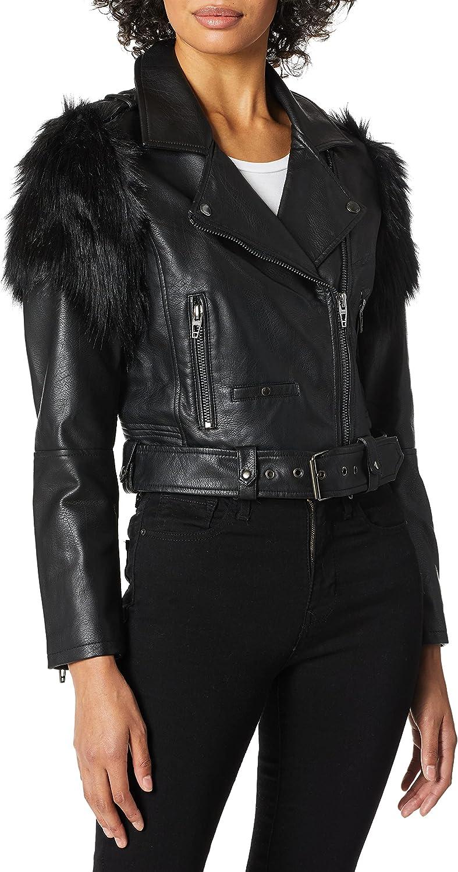 [BLANKNYC] womens Vegan Leather Jacket
