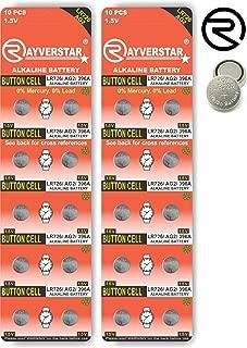Rayverstar LR726 AG2 1.5V Alkaline, 20 Batteries Fits: 396, 397, 196, LR59 (See Full List Below)
