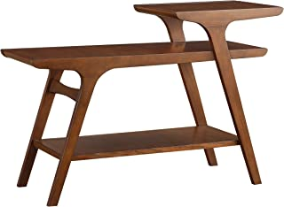 Homelegance Saluki Mid-Century Two-Tier Sofa Table, Cherry