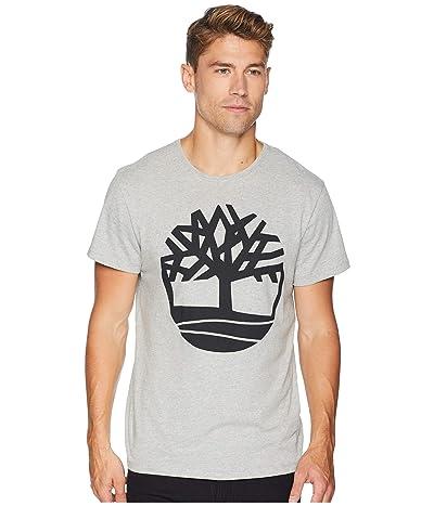 Timberland Short Sleeve Seasonal Logo Tee (Medium Grey Heather Tree) Men