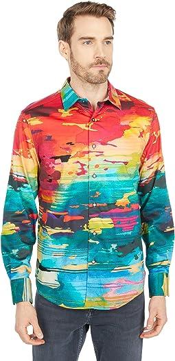 Journey Man Long Sleeve Woven Shirt