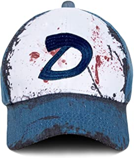 The Walking Dead Clementine Cap Cosplay Custom Blood Stain & Dirt Dead Zombies Hat Unisex Slate Blue