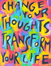 💚 Change .Thoughts Transform Life | Positive Thinking Mindfulness Quote Poster