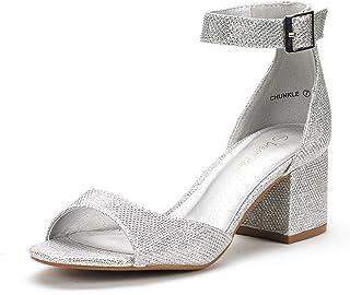 DREAM PAIRS Women's Chunkle Low Heel Pump Sandals
