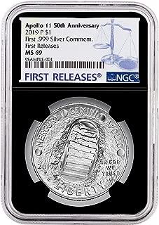 2019-P Proof $1 Apollo 11 50th Ann Silver Dollar NGC PF70UC FDI First Label