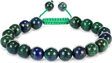 BRCbeads Gemstone Bracelet with Gift Box Handmade 6.5-9 Inches 10mm Macrame Adjustable
