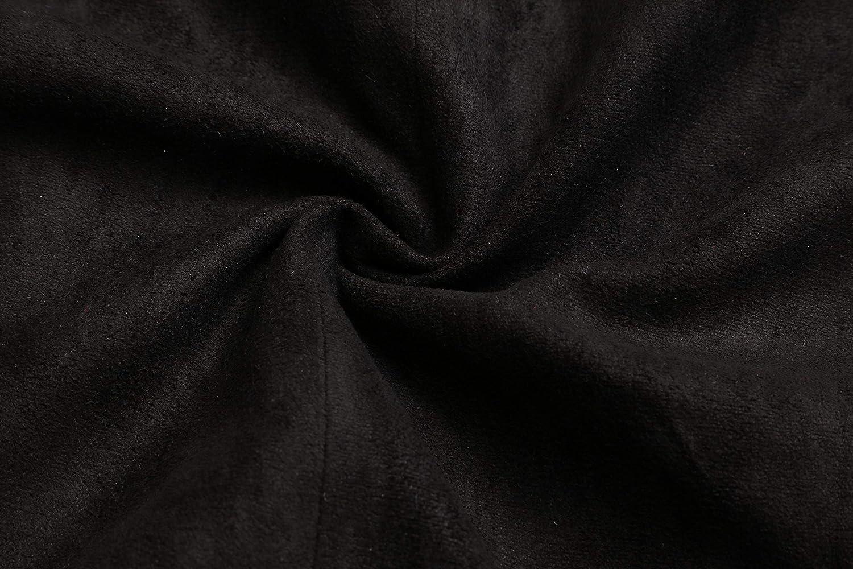 Vocni Damen Weste mit V-Ausschnitt und 4 Knöpfen, komplett gefüttert Wildleder schwarz