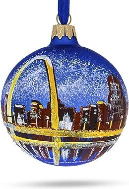 BestPysanky St. Louis, Missouri Glass Ball Christmas Ornament