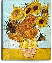 DECORARTS – Twelve Sunflowers, Vincent Van Gogh Art Reproduction. Giclee Canvas..