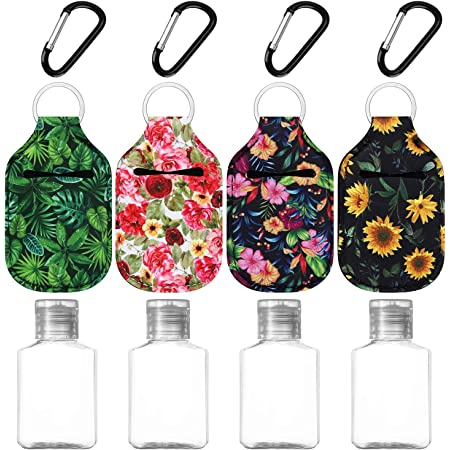 Sparkly Galaxy Hand Sanitizer Key Ring Holder with 30ml Bottle