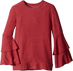 Extra Soft Tiered Sleeve Pullover Sweater (Little Kids/Big Kids)