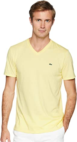 Short Sleeve V-Neck Pima Jersey Tee Shirt