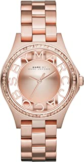 Marc By Marc Jacobs Henry Transparent Dial Rose Gold-tone Ladies Watch MBM3339