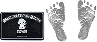Baby Hand and Footprint Kit by Forever Fun Times | Get Hundreds of Detailed Prints with One Baby Safe Ink Pad | Easy to Clean, and Works with Any Paper or Card | Clean and Safe (Black)