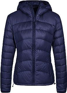 Wantdo Women`s Packable Puffer Down Jacket Lightweight Winter Coat Hooded Down Coat
