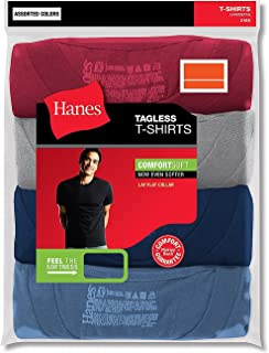 Hanes Men's 3-Pack Crew Neck T-Shirt (XX-Large, Assorted)