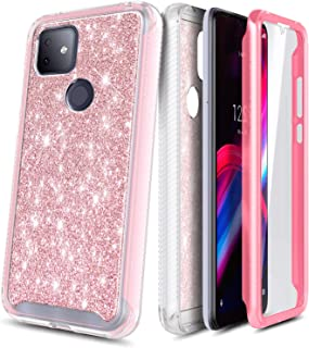 Impact Resist Durable Case Cover -Flower Design Plum Blossom E-Began LG K51 Case LG Reflect//LG Q51with Built-in Screen Protector Full-Body Shockproof Protective Rugged Matte Bumper Cover