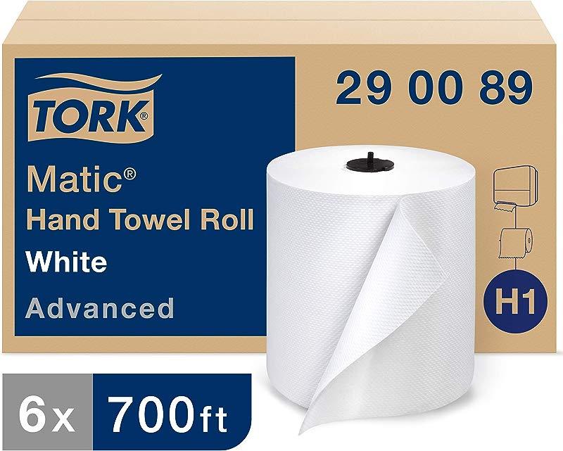 Tork 290089 Advanced Matic Paper Hand Towel Roll 1 Ply 7 7 Width X 900 Length White Case Of 6 Rolls 700 Feet Per Roll 4 200 Feet