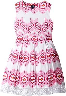 Oscar de la Renta Childrenswear - Ikat Cotton Party Dress (Toddler/Little  Kids/