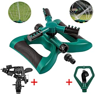 TINANA Lawn Sprinkler Automatic 360 Degree Rotating Sprinklers Lawn Irrigation System Oscillating Rotary High Impact Sprinkler System for Lawns Garden Yard Outdoor