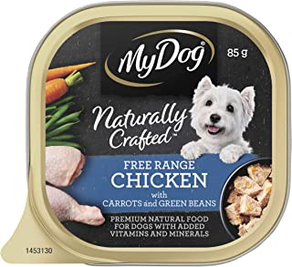 MY DOG Naturally Crafted Wet Dog Food Chicken 85g Tray, 14 Pack, One Size