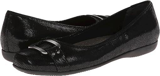 Black Patent Suede Lizard Leather