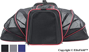 EliteField Expandable Soft Pet Carrier (3 Year Warranty, Airline Approved), Multiple Sizes Colors Available